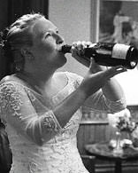 Another bride hits the bottle!