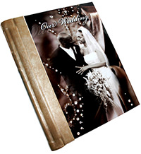 acrylic diamond wedding album cover