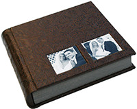 multi-window leather wedding album cover