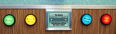 photo booth start button options