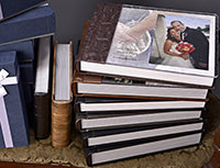 leather wedding albums